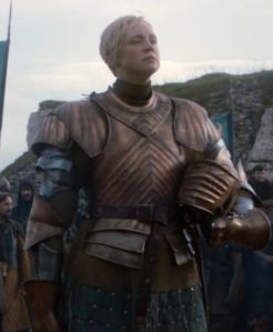 Gwendoline Christie as Brienne of Tarth