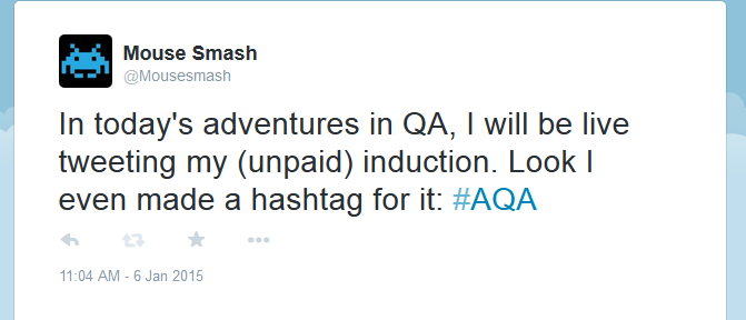 In retrospect, not the greatest hashtag, but it was short.